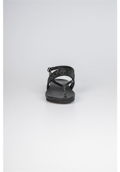 SCORPIONS 3280 THONG W BR.VEG.LEAT/FABRIC HOT FIX BLACK CULT   Sandali   CLW328000BLACK