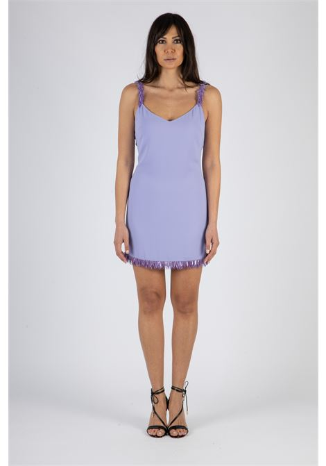 Mini dress con ricamo effetto frangia ELISABETTA FRANCHI | Abito | AB13711E2Q38