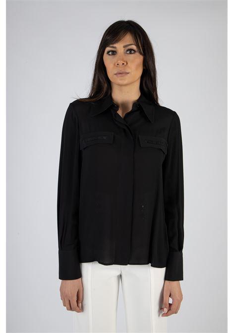 Camicia con ricamo in organza ELISABETTA FRANCHI | Camicia | CA28111E2110