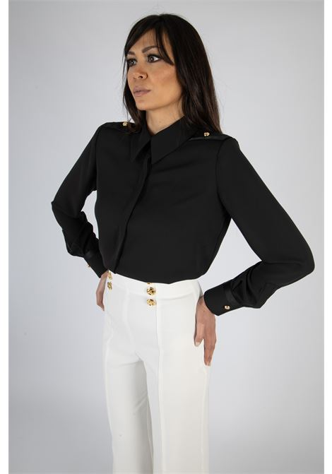 Camicia in duchesse con spalline ELISABETTA FRANCHI | Camicia | CA29111E2110