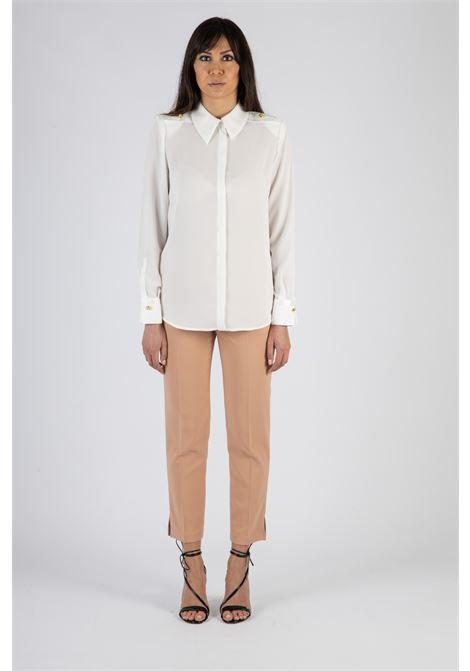 Camicia in duchesse con spalline ELISABETTA FRANCHI | Camicia | CA29111E2360