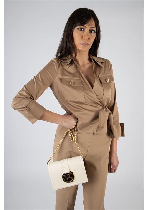Camicia crop in cotone ELISABETTA FRANCHI | Camicia | CA31511E2390