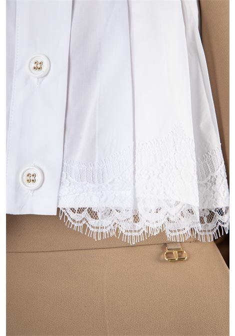 Camicia crop in pizzo ricamata ELISABETTA FRANCHI | Camicia | CA31811E2100