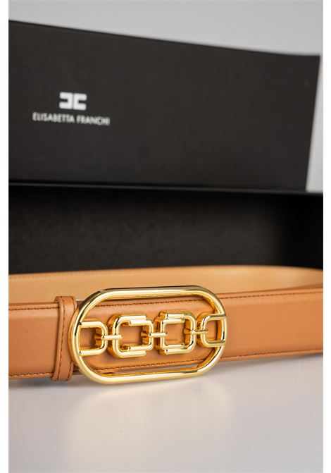 Cintura vita alta con logo light gold Elisabetta Franchi ELISABETTA FRANCHI | Cintura | CT03S11E2600