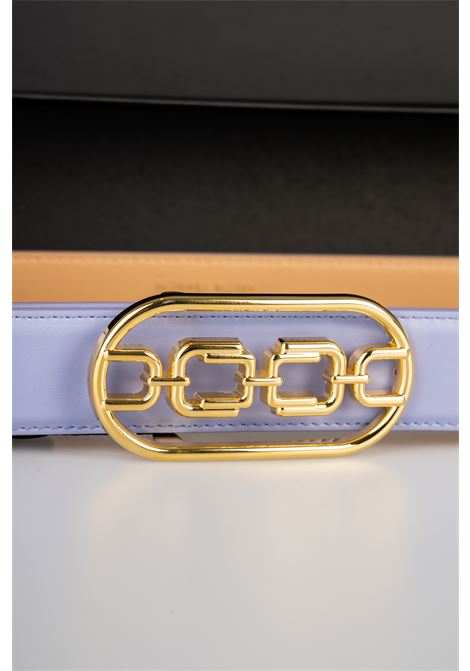 Cintura vita alta con logo light gold Elisabetta Franchi ELISABETTA FRANCHI | Cintura | CT03S11E2Q38