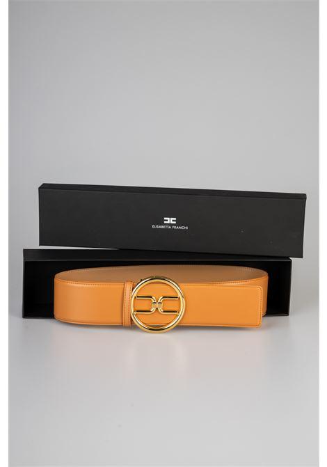 Cintura a vita alta con logo gold Elisabetta Franchi ELISABETTA FRANCHI | Cintura | CT11S11E2600