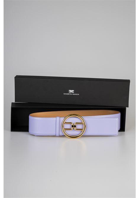 Cintura a vita alta con logo gold Elisabetta Franchi ELISABETTA FRANCHI | Cintura | CT11S11E2Q38