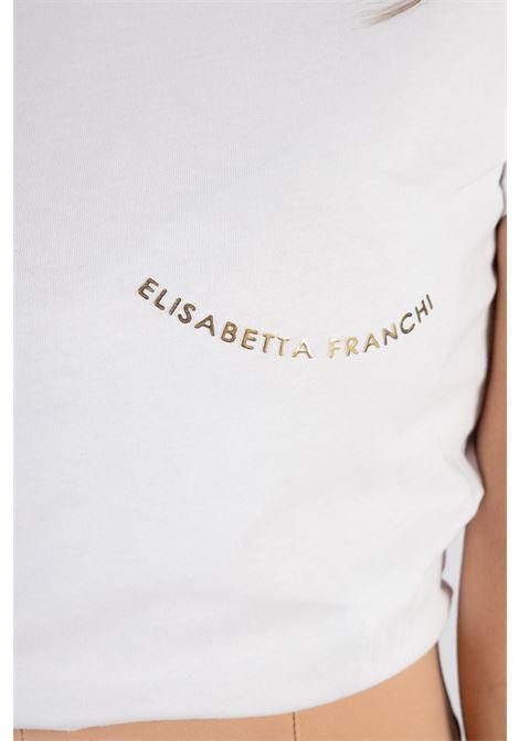 T-shirt Elisabetta Franchi con scritta dorata ELISABETTA FRANCHI   T-shirt   MA20211E2270