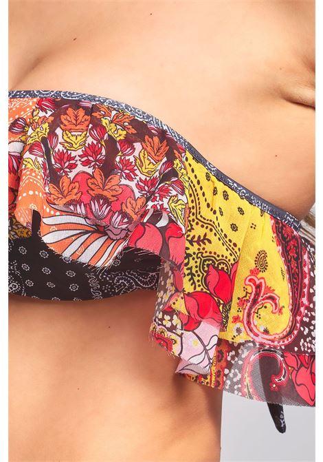Bikini Fascia monospalla e slip retrò fisso Summer of love F**K   Bikini   F21-0652X1