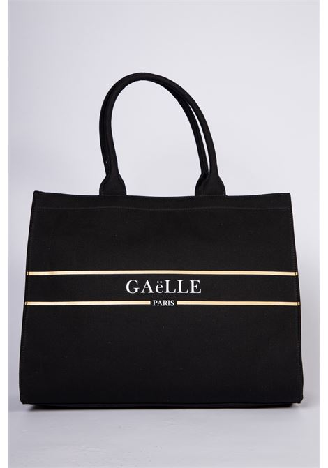MAXI SHOPPER IN TESSUTO LOGATA GAELLE | Shopper | GBDA2320NERO