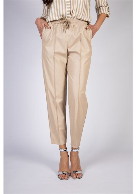 PANTALONI IN SIMILPELLE CON COULISSE IMPERIAL | Pantaloni | P2F8BBN1832