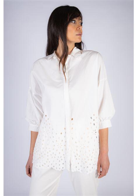 Camicia in cotone con ricamo Sangallo Manila Grace | Camicia | C262CUMA043