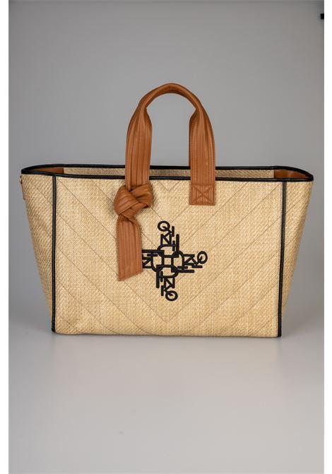 BIG SHOPPING BAG IN RAFIA RICAMATA Pinko   Borsa   1P224M-Y6YNC72
