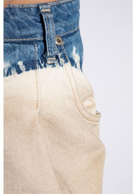 JEANS BICOLOR SLOUCHY CON PINCES PLEASE | Pantaloni | P0MMEH0N9C1670