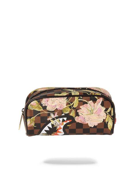 SHARK FLOWER POUCH SPRAYGROUND | Beauty case | 910B3274NSZMARRONE