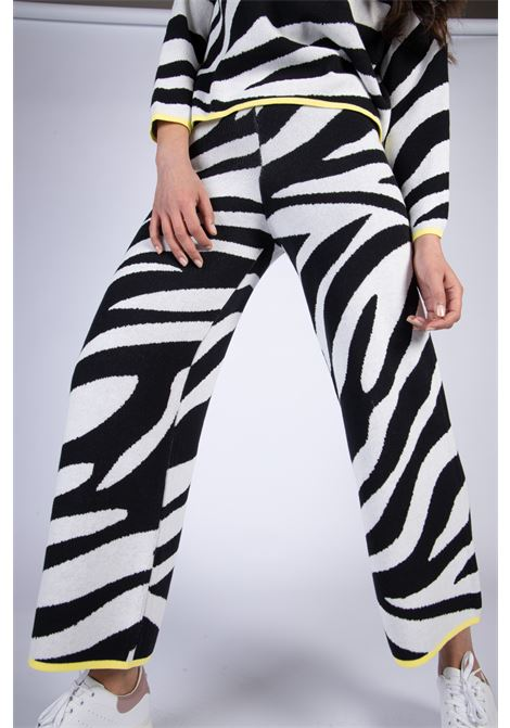 VICOLO | Pants  | 2140HBIANCO/NERO
