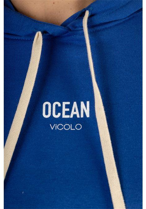 Felpa con Cappuccio OCEAN VICOLO | Felpa | RH0073BLUETTE