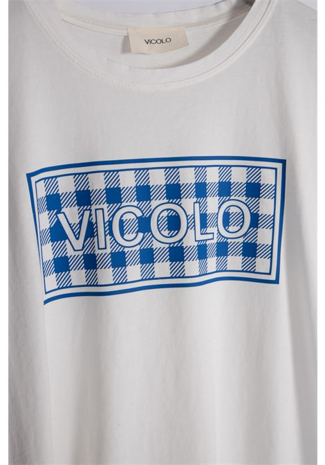 T-SHIRT GIROCOLLO VICOLO | T-shirt | RH0157BLU