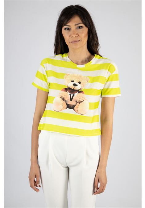 VICOLO | T-shirt  | RH0431LIME/PANNA