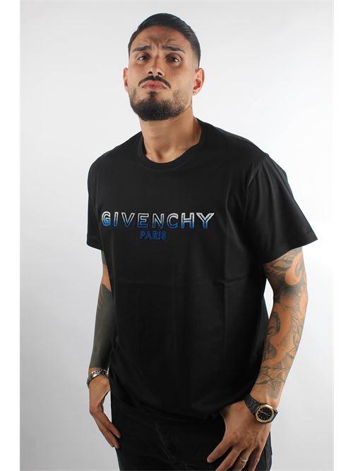 t-shirt logo ricamato a rilievo GIVENCHY | T-shirt | BM70UY3002012