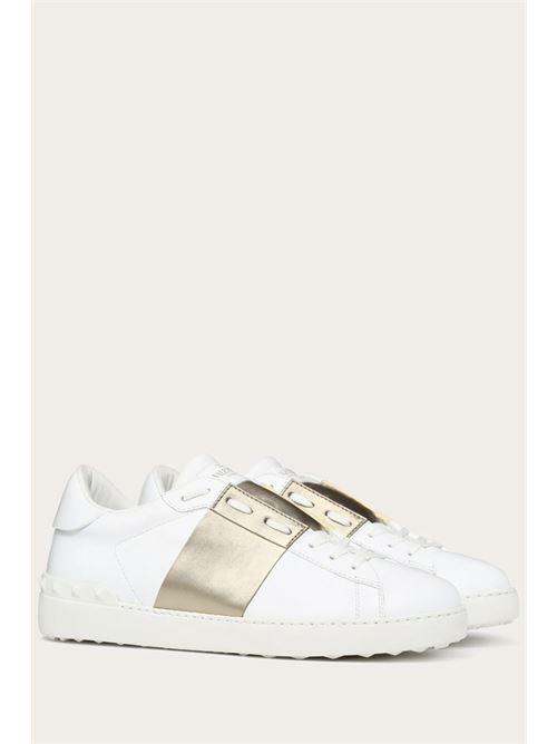 sneakers con inserti e logo argento VALENTINO | Scarpe | UY2S0830 FLRL71