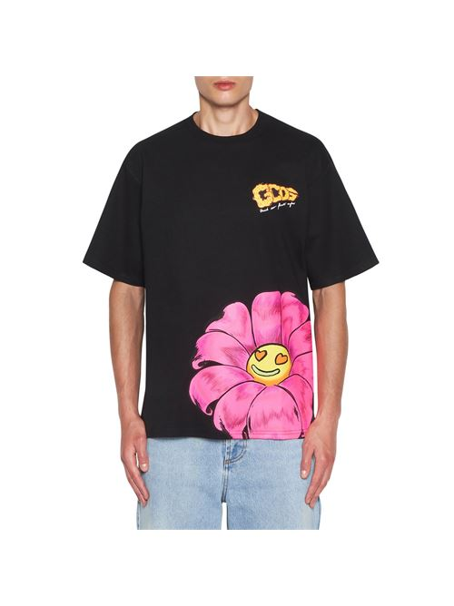 T-shirt unisex nero in cotone con stampa GCDS | T-shirt | SS21M02006902