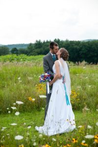 bride and groom elopement at Chesterfield Inn
