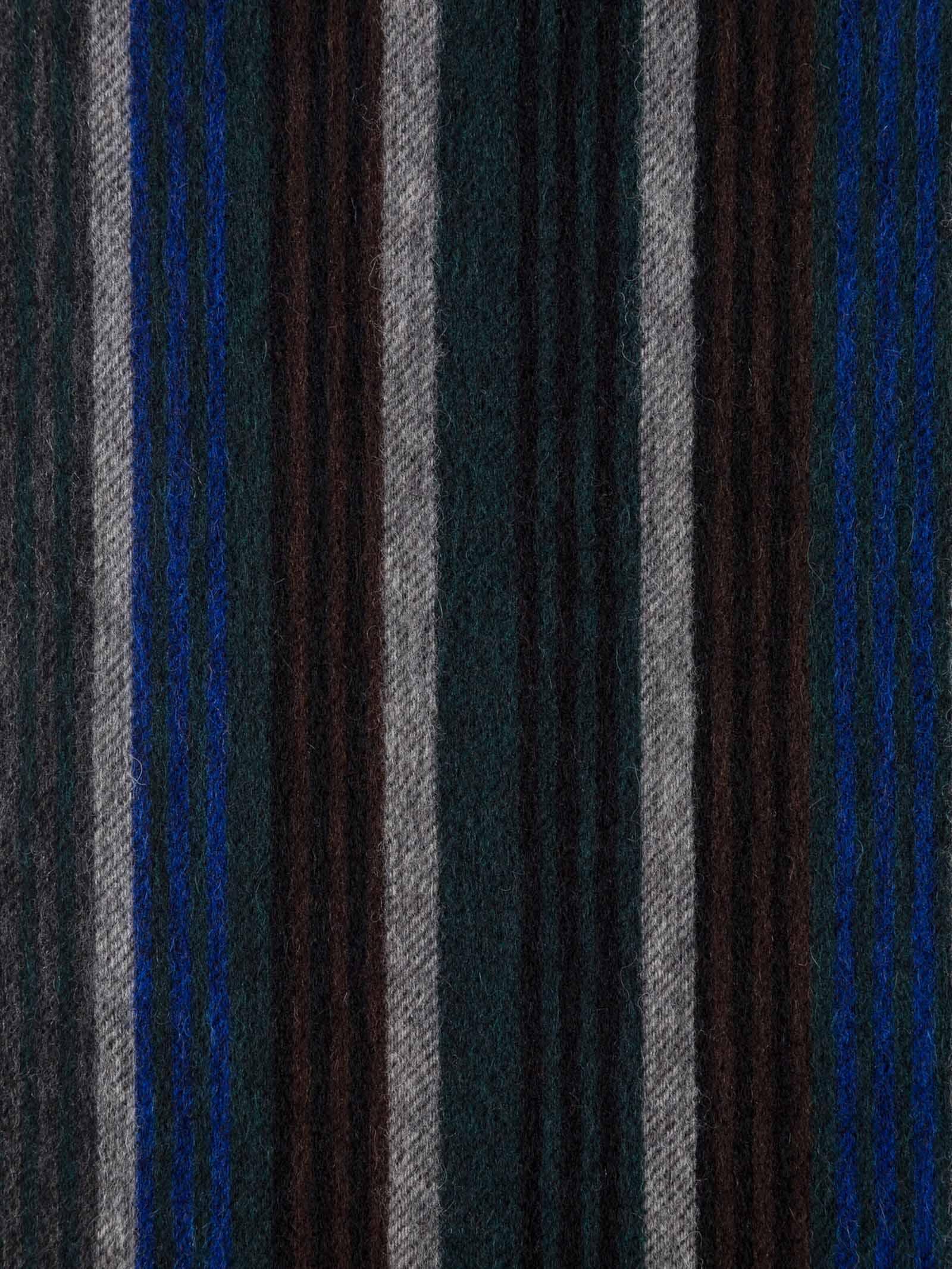 Sciarpa a righe da uomo in lana d'agnello nera PAUL SMITH | Sciarpa | M2A-443F-ES0479