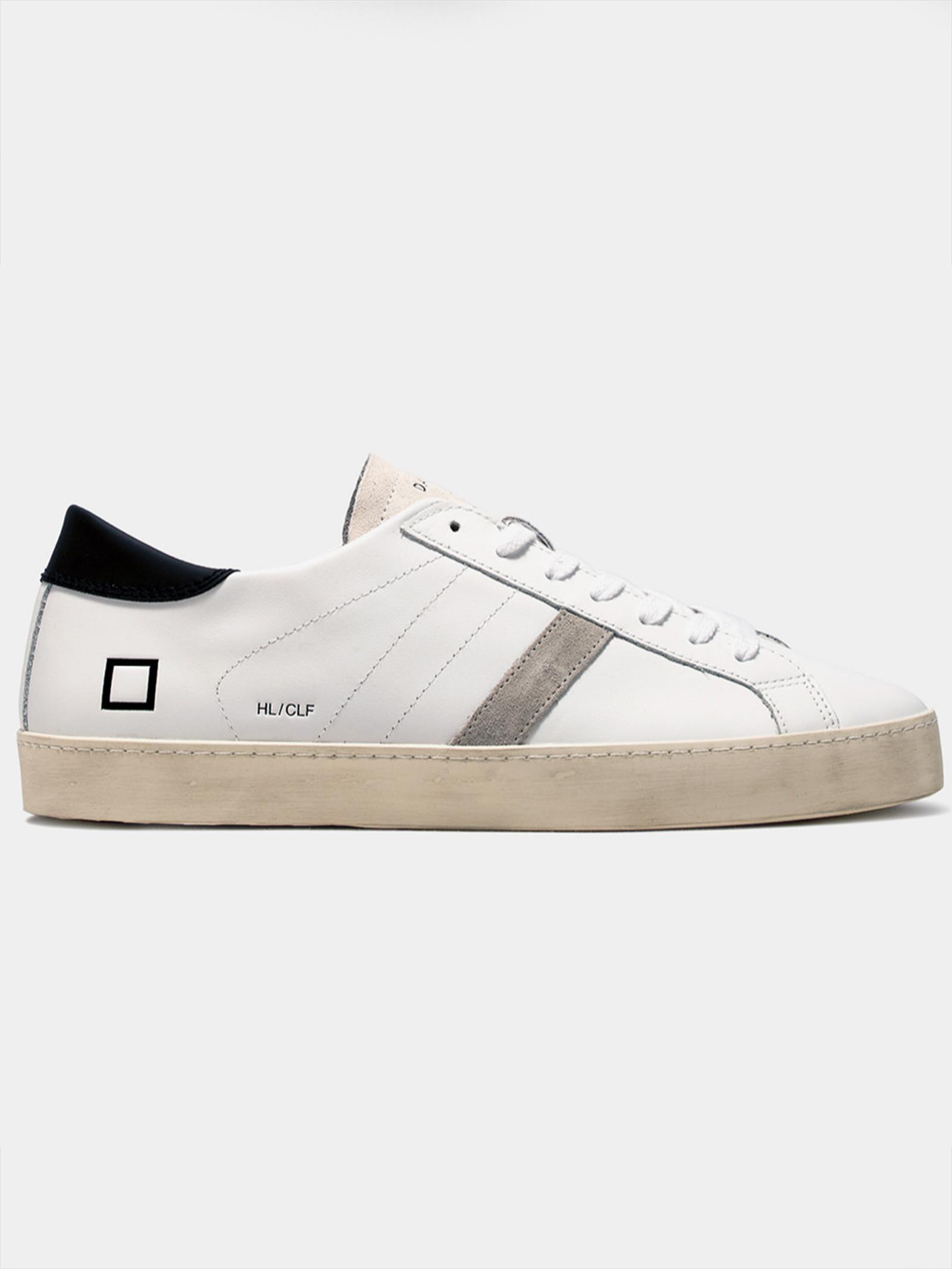 HILL LOW CALF WHITE-BLACK D.A.T.E.   Sneakers   M351-HL-CAWB