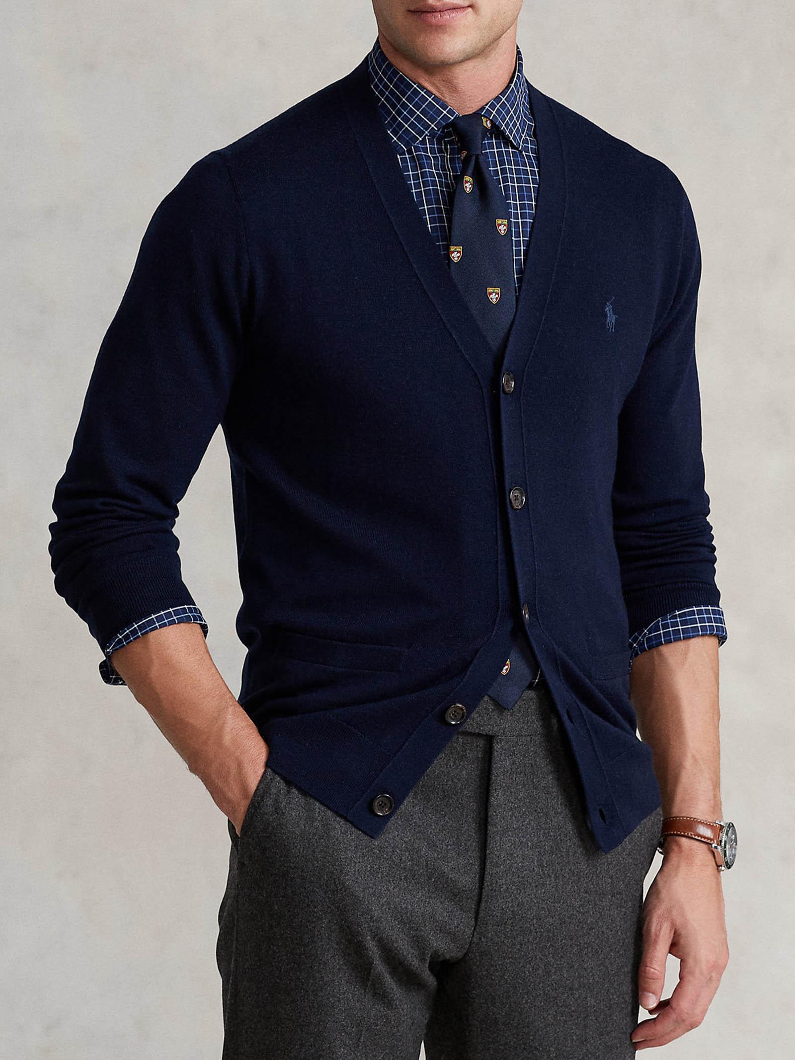 Cardigan in lana lavabile Slim-Fit RALPH LAUREN   Maglia   710-763372002
