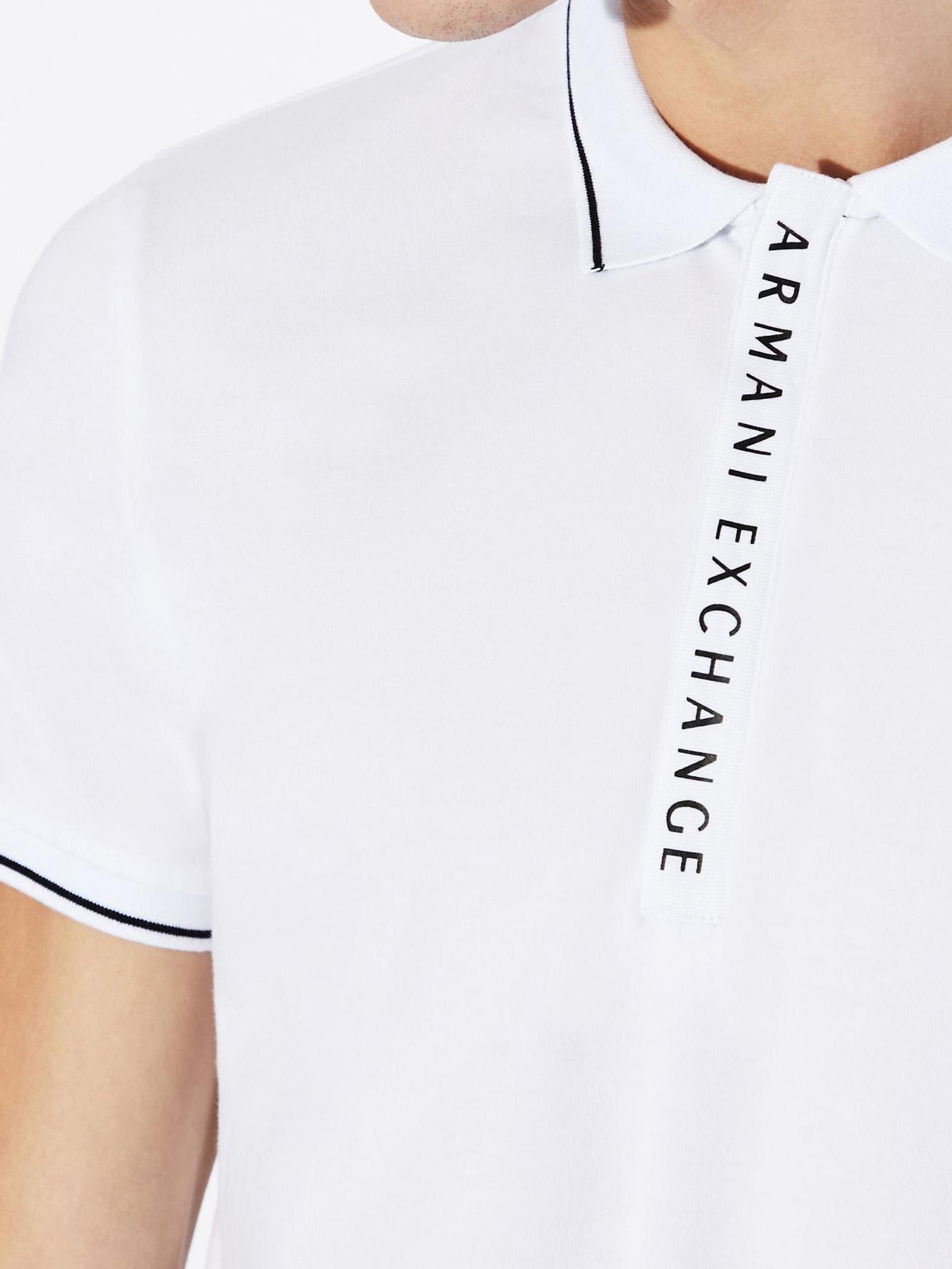 Polo con scritta logo ARMANI EXCHANGE   Polo   8NZF71/ZJH2Z1100