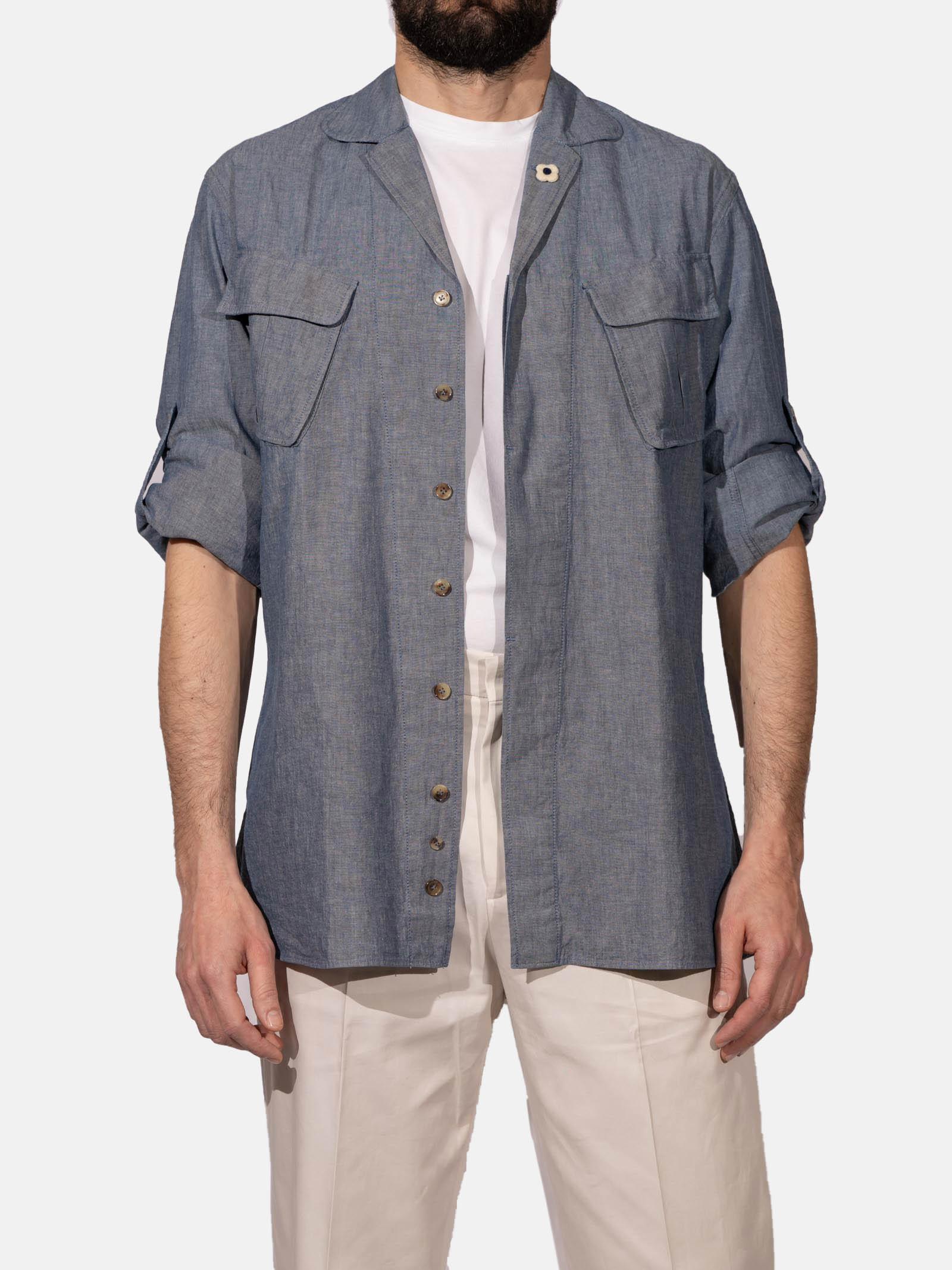Camicia aviatore LARDINI | Camicia | ELNICO/ELC1377800