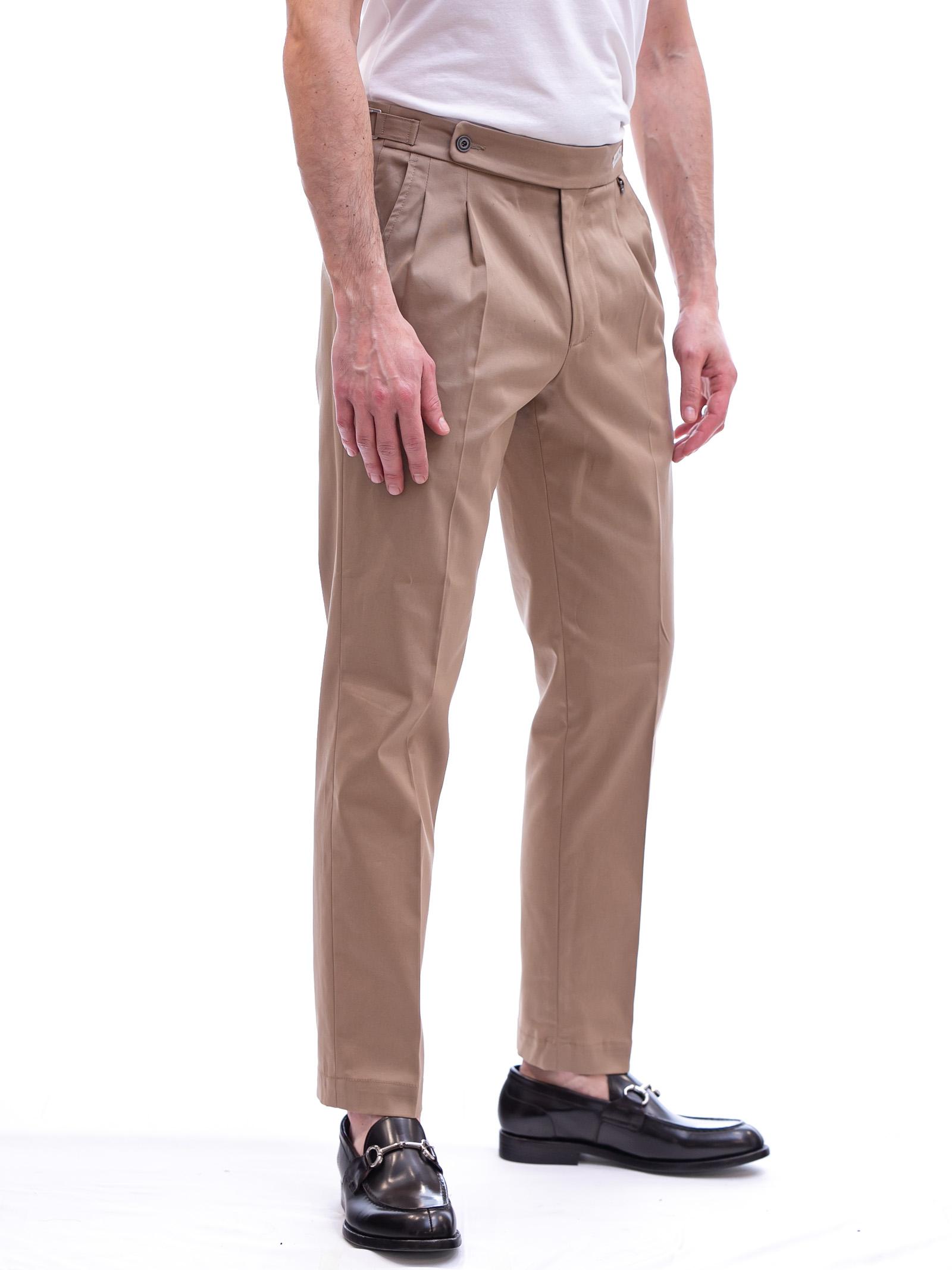 Pantalone con pinces e cinturino PAOLONI | Pantalone | P108-21000222