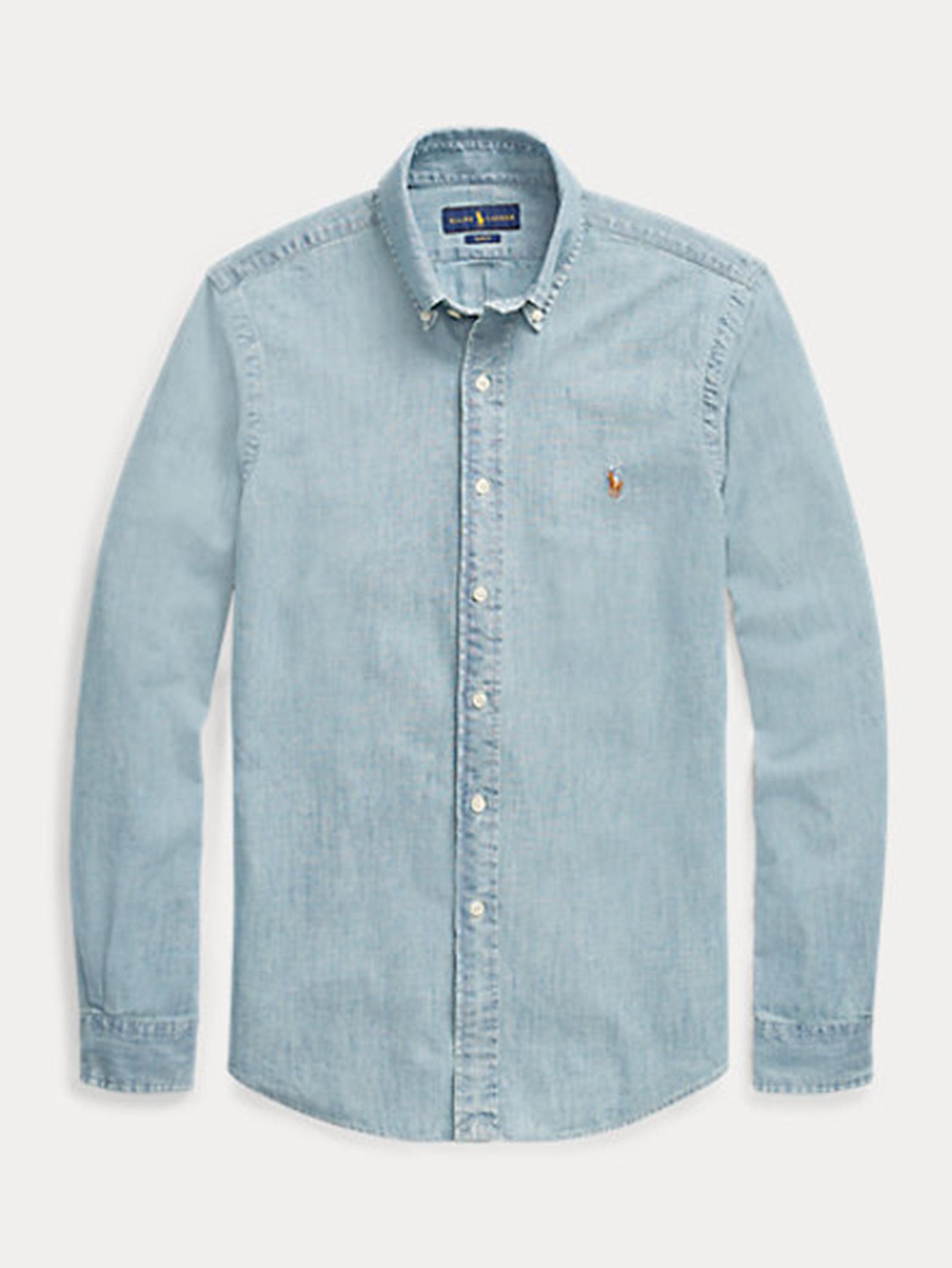 Camicia in chambray slim fit RALPH LAUREN   Camicia   710-548538001