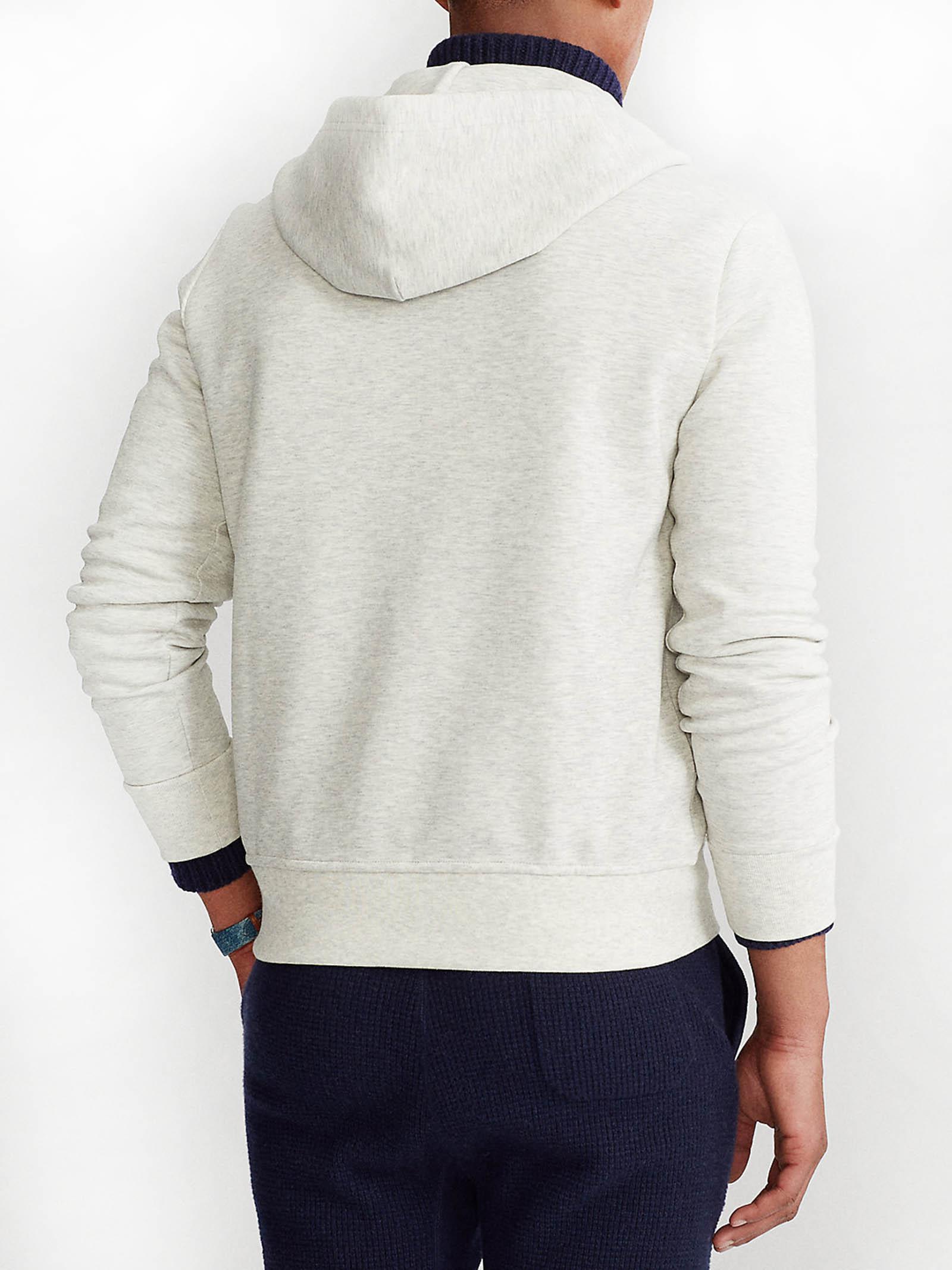 Felpa con cappuccio e zip a maglia doppia RALPH LAUREN | Felpa | 710-652313023