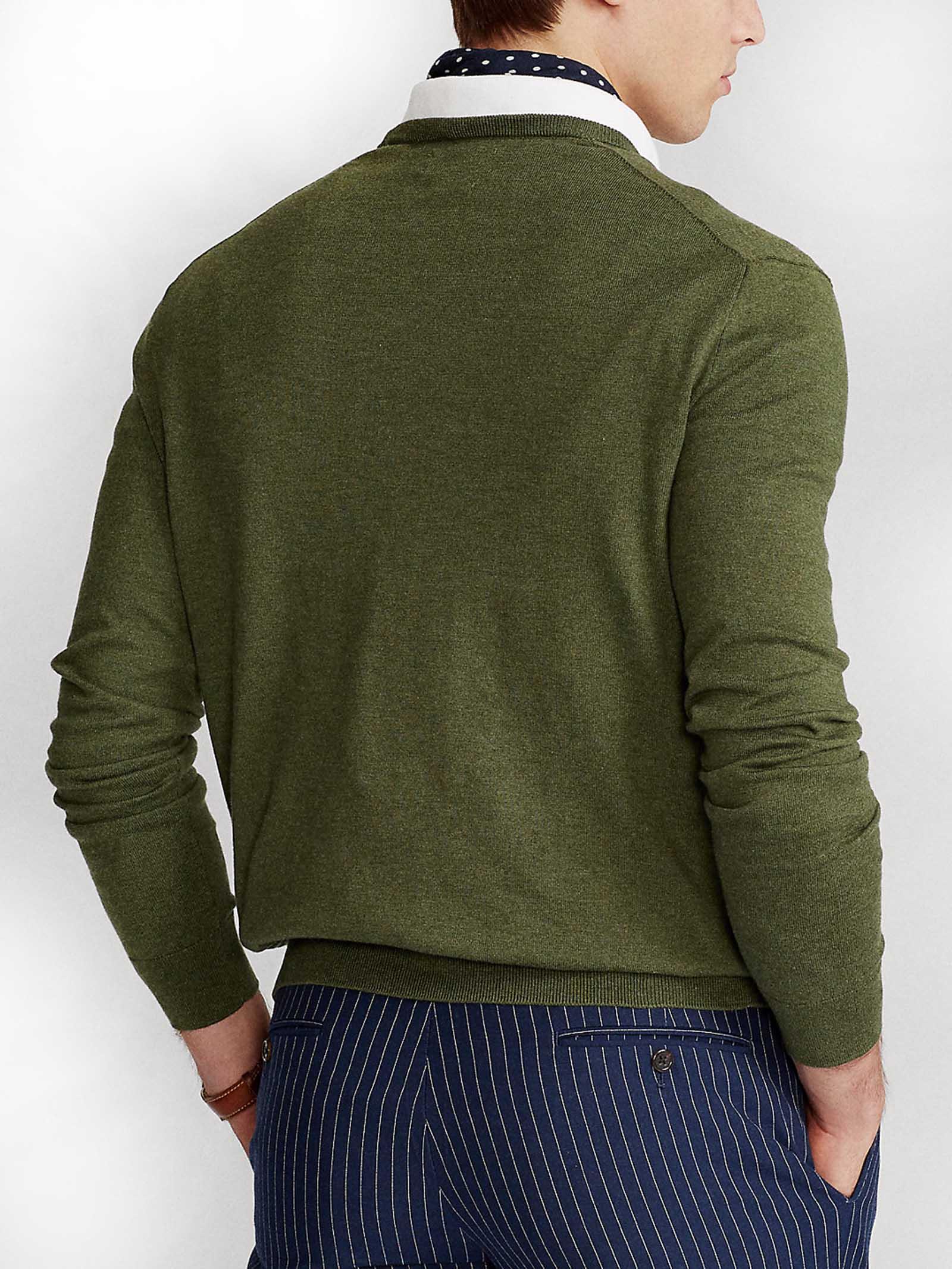 Maglione girocollo in cotone slim fit RALPH LAUREN | Maglia | 710-744679029