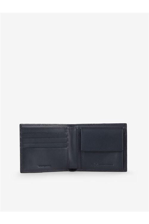 Portafogli con porta carte in pelle ARMANI EXCHANGE | Portafogli | 958098/CC20600020
