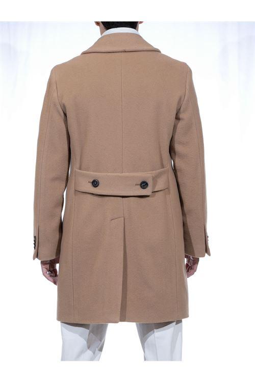 Cappotto doppiopetto con rever sciallato MANUEL RITZ MANUEL RITZ | Cappotto | C8503/20374124
