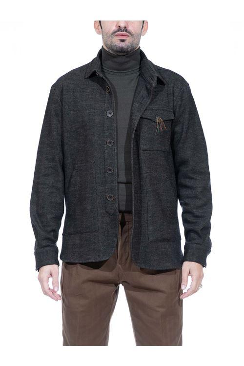 Giacca camicia in lana punto resca MANUEL RITZ MANUEL RITZ | Giacca | G2440M/20368840