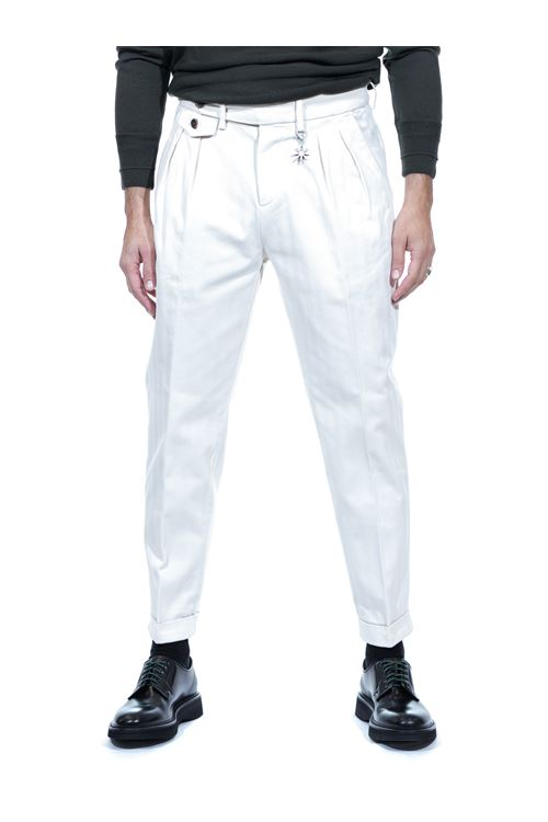 Pantalone con doppia pinces in cotone MANUEL RITZ MANUEL RITZ | Pantalone | P1668T/20387703