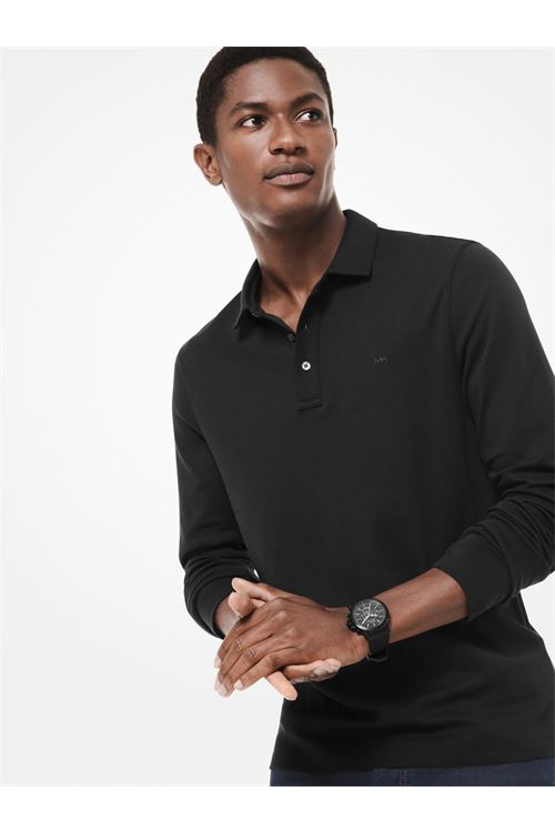 Polo in cotone a maniche lunghe MICHAEL KORS | Polo | CF05E90C93001