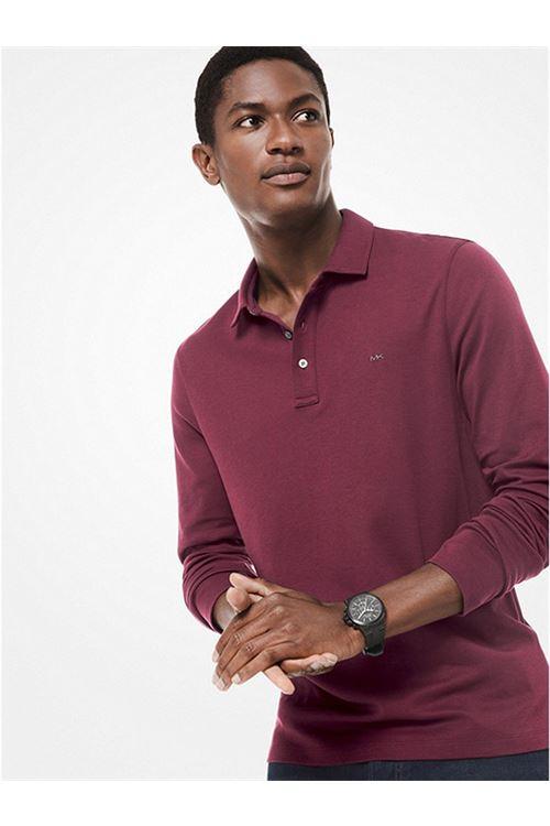 Polo in cotone a maniche lunghe MICHAEL KORS | Polo | CF05E90C93604