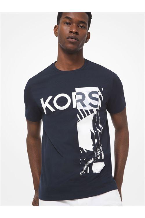 T-shirt in cotone con logo effetto grafico MICHAEL KORS | T-shirt | CF05JVZ81W511