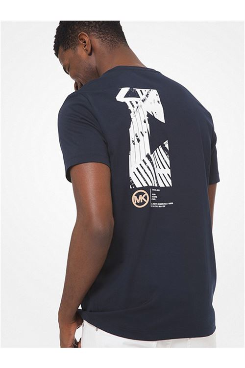 T-shirt in cotone con logo effetto grafico MICHAEL KORS   T-shirt   CF05JVZ81W511