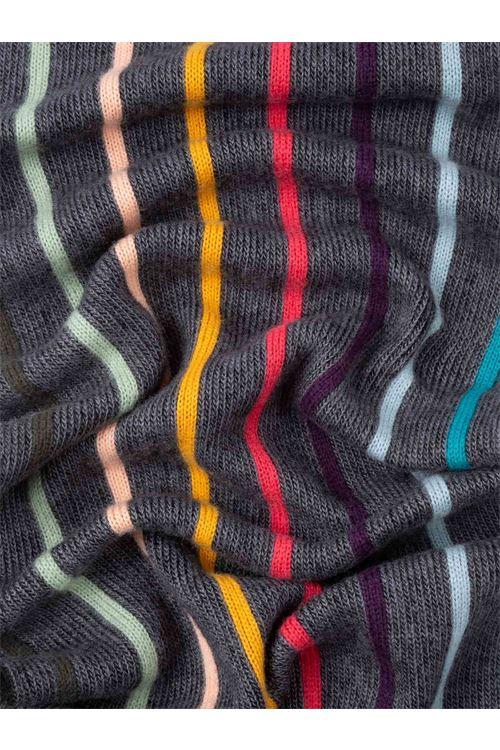 Sciarpa di lana grigio intrecciata Artist Stripe PAUL SMITH   Sciarpa   M1A-357E-ES1079