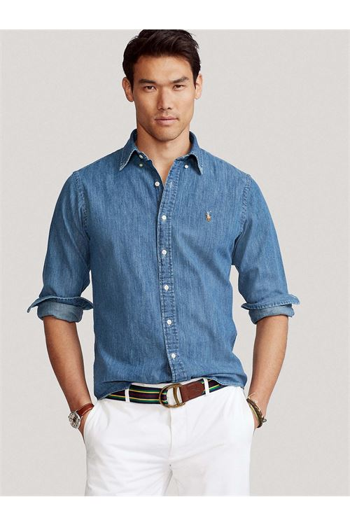 Camicia in denim RALPH LAUREN | Camicia | 710/548539001