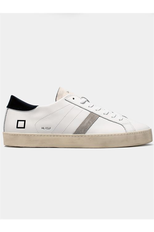 HILL LOW CALF WHITE-BLACK D.A.T.E. | Sneakers | M351-HL-CAWB