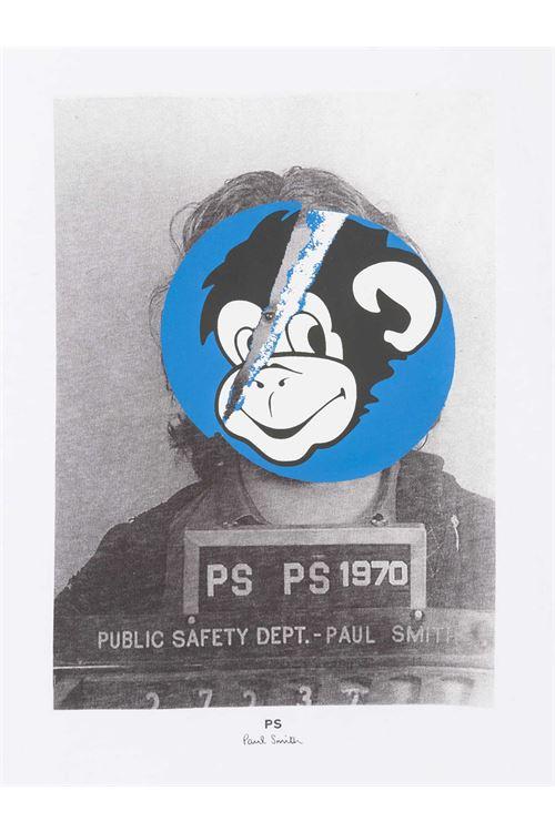 T-shirt bianca da uomo slim fit in cotone con stampa scimmia PAUL SMITH | T-shirt | M2R-011R-GP305001