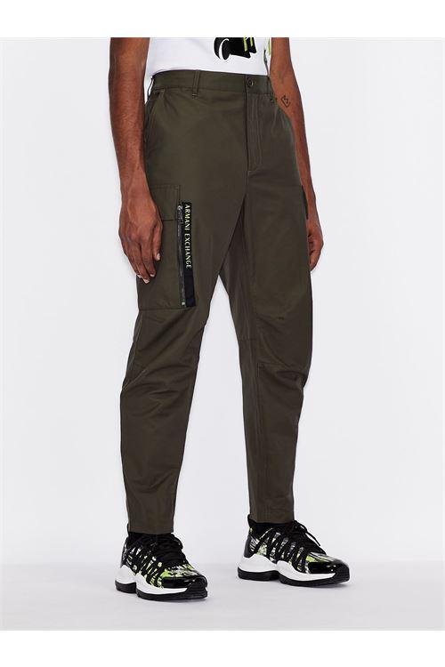 Pantaloni in nylon e cotone ARMANI EXCHANGE | Pantalone | 3KZP03/ZNJ8Z1855