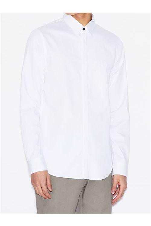 Camicia slim fit in cotone elasticizzato ARMANI EXCHANGE | Camicia | 8NZCBD/ZN10Z0113